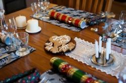 Pepperkake med god jul-glasur. Fikk meg nesten til å gråte.